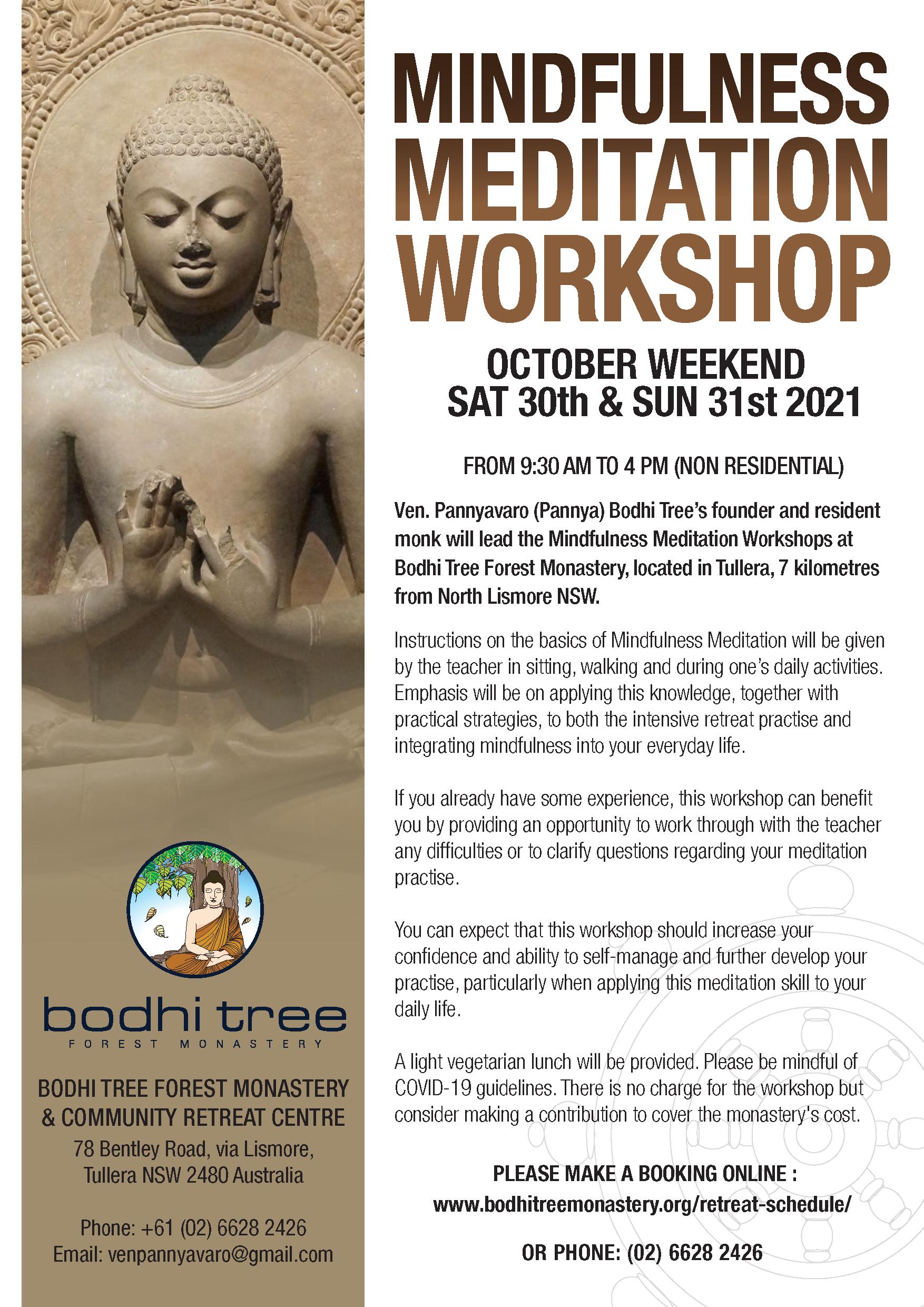 October Mindfulness Workshop